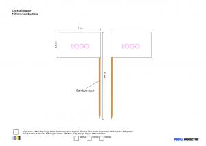 Cocktailflaggor - 150mm bambusticka
