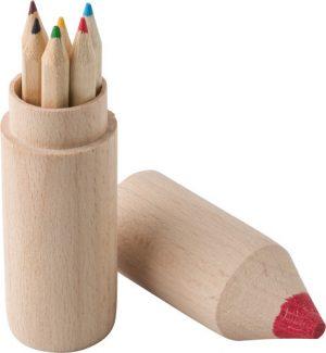 Färgpenn set i trä