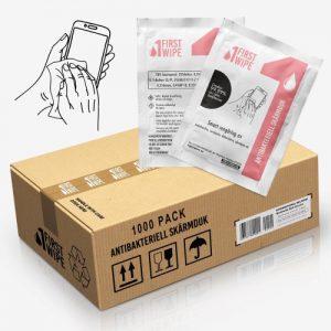 First Wipe skärmdukar - 1.000 pack