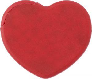 Hjärtformat mintkort