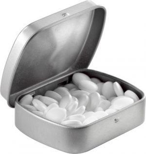 Mintburk i metall, sockerfria minttabletter