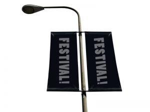 Street banner flagga 60x100 cm